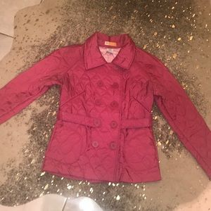 Women's Sz Small Hot Pink quilted peacoat